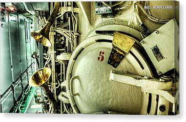 Nuclear Submarine Missile Chamber Canvas Print by Weston Westmoreland