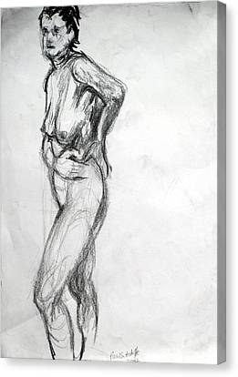 Nude 2 Standing  Canvas Print by Paul Sutcliffe