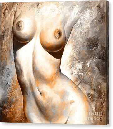 Digital Nudes Canvas Print - Nude Details - Digital Color Version Rust by Emerico Imre Toth