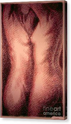 Nude Female Torso Drawings 1 Canvas Print by Gordon Punt