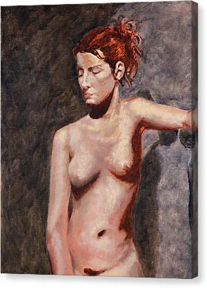 Nude French Woman Canvas Print by Shelley Irish