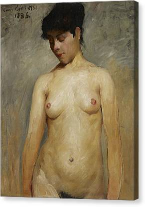 Nude Girl Canvas Print by Lovis Corinth