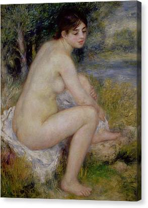 Nude In A Landscape Canvas Print by Pierre Auguste Renoir
