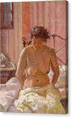 Nude In An Interior, Harold Gilman, 1876-1919 Canvas Print by Litz Collection