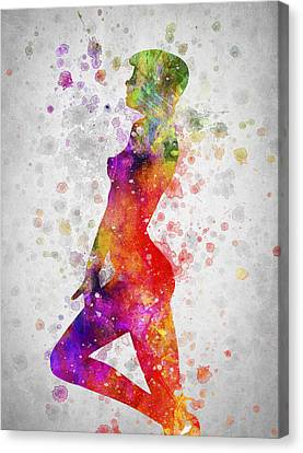 Nude In Color 04 Canvas Print by Aged Pixel