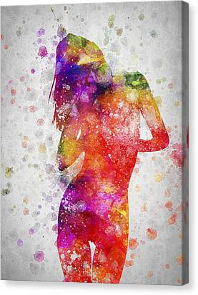 Nude In Color 05 Canvas Print by Aged Pixel