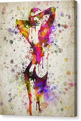 Nude In Color Canvas Print by Aged Pixel