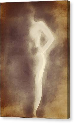 Nude In Shadow 2 Canvas Print