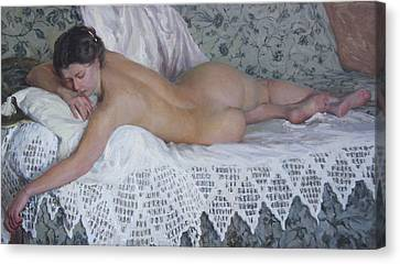 Nude Canvas Print by Korobkin Anatoly