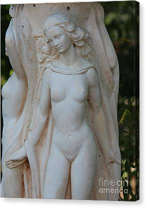 Nude Lady Statue Canvas Print by Cynthia Snyder
