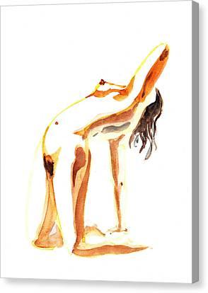 Nude Model Gesture IIi Canvas Print by Irina Sztukowski