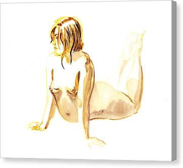 Nude Model Gesture Iv Canvas Print by Irina Sztukowski