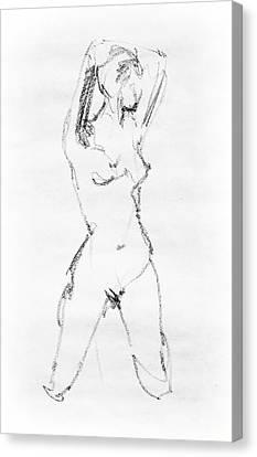 Nude Model Gesture Vii Canvas Print by Irina Sztukowski