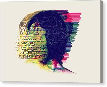 Feelings Canvas Print - Nude by Panda Gunda