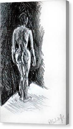 Nude  Canvas Print by Paul Sutcliffe