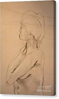 Nude Profile Canvas Print by Gabrielle Schertz