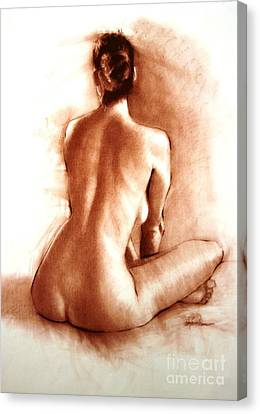 Masters Winners Canvas Print - Nude Sitting Back by Doyle Shaw