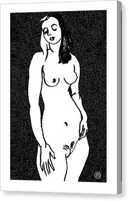 Nude Sketch 3 Canvas Print by Leonid Petrushin