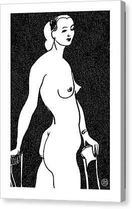 Nude Sketch 4 Canvas Print by Leonid Petrushin