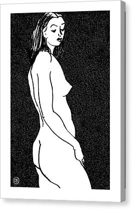 Nude Sketch 8 Canvas Print by Leonid Petrushin