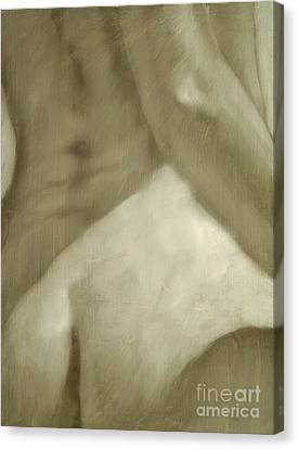 Nude Study I Canvas Print by John Silver