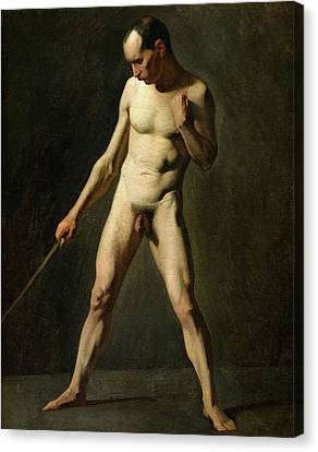 Nude Study Canvas Print by Jean-Francois Millet
