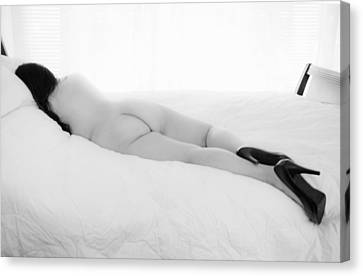 Nude Woman In High Heels 2 Canvas Print