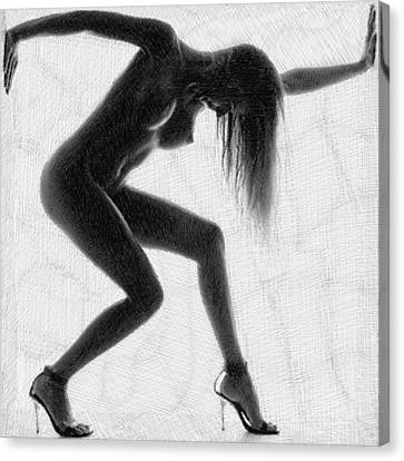 Passion Canvas Print - Survive Nude Woman by Tony Rubino