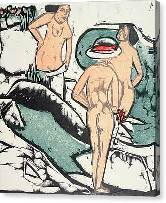 Nude Women Canvas Print by Ernst Ludwig Kirchner
