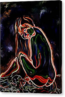 Outlined Nude 1 Canvas Print
