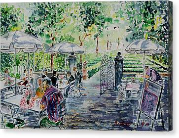 Canvas Print featuring the painting Nuernberg Gardens Of Hesperides by Alfred Motzer