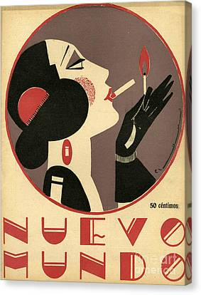 Women Canvas Print - Nuevo Mundo 1923 1920s Spain Cc by The Advertising Archives