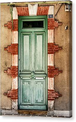 Number 16 Is Green Canvas Print