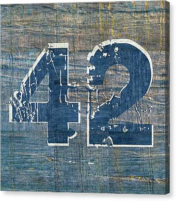 Brooklyn Dodgers Canvas Print - Number 42 by Michelle Calkins