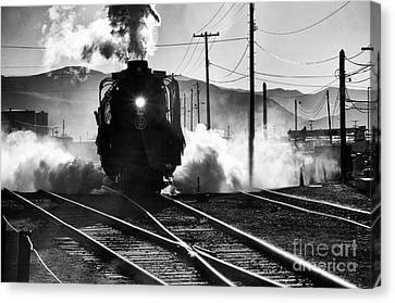 Canvas Print featuring the photograph Number 844 Pulling Out by Vinnie Oakes