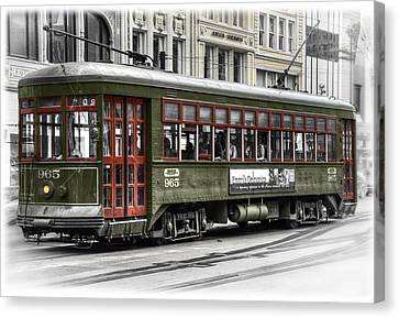 Canvas Print featuring the photograph Number 965 Trolley by Tammy Wetzel
