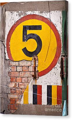 Number Five Canvas Print by Delphimages Photo Creations