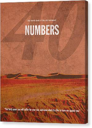 Numbers Books Of The Bible Series Old Testament Minimal Poster Art Number 4 Canvas Print