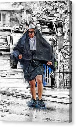 Nun On The Run Canvas Print