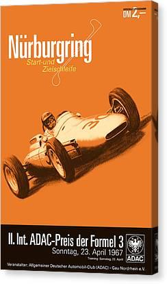Nurburgring F3 Grand Prix 1967 Canvas Print by Georgia Fowler