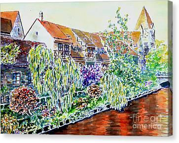 Nuremberg Pegnitz Riverside Canvas Print