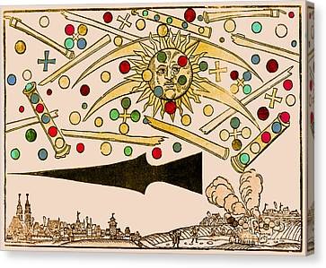 Nuremberg Ufo 1561 Canvas Print by Science Source