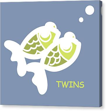 Nursery Wall Art For Twins Canvas Print by Nursery Art