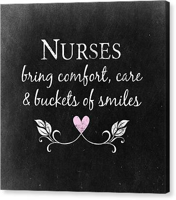 Nurse Shark Canvas Print - Nurses Bring Comfort by Flo Karp