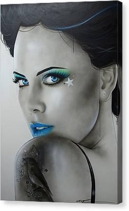 Charlize Theron - ' Nurture ' Canvas Print