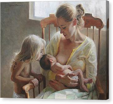 Figurative Canvas Print - Nurturer by Anna Rose Bain