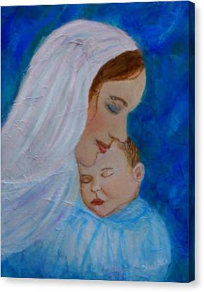 Nurturing Love Of A Mother  Canvas Print by The Art With A Heart By Charlotte Phillips
