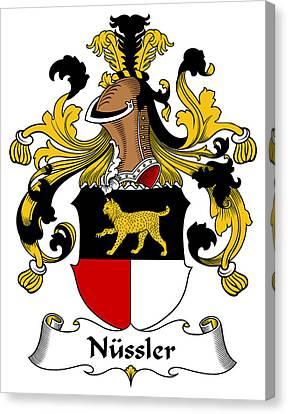 Nussler Coat Of Arms German Canvas Print