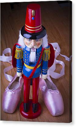 Nutcracker And Ballet Shoes Canvas Print by Garry Gay