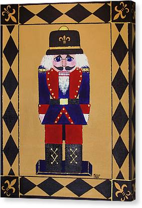 Nutcracker Floor Cloth Sgt. Blue Canvas Print by Cindy Micklos